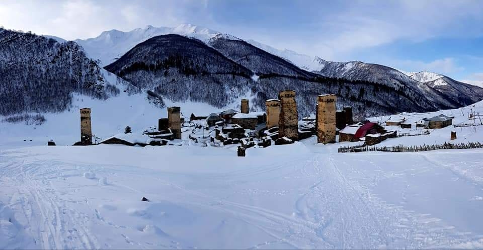 Ushguli ski touring