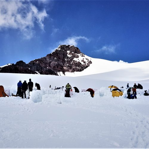 Camp at Kazbek Plateau at 4300