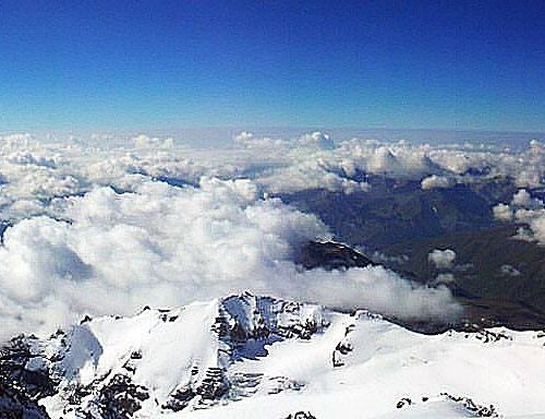 View from Kazbek Summit