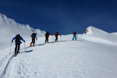 Ski touring in Kazbegi