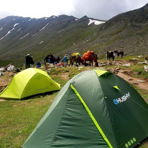 Camping at Sabertse 3010 m.a.s.l.