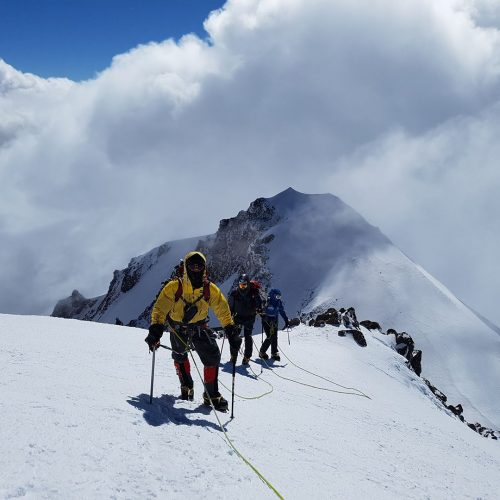 Close to Kazbek summit