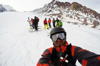 Ski mountaineering Kazbek