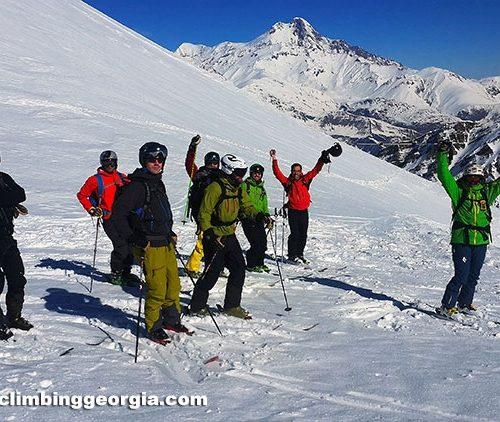 Ski touring in Gudauri
