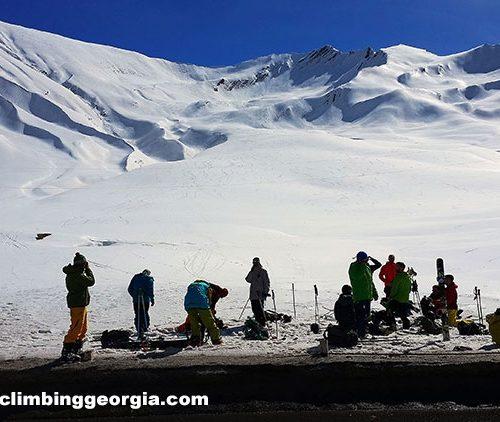 Ski touring in Georgai