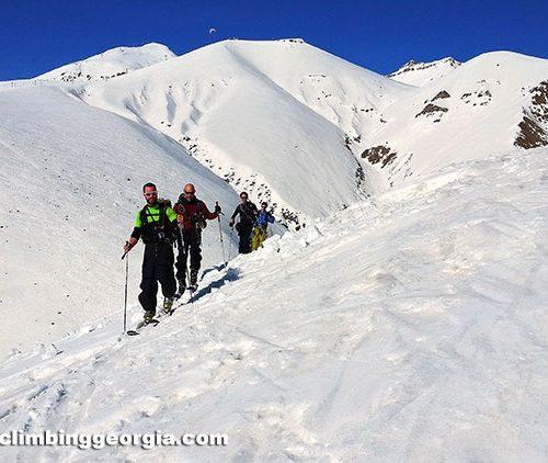 Backcountry skiing in Georgia