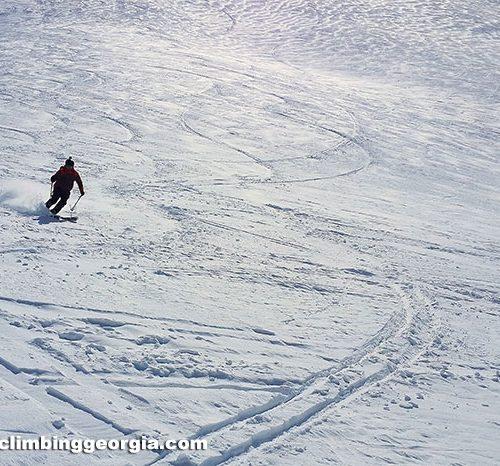 Ski touring - Mount Kazbek