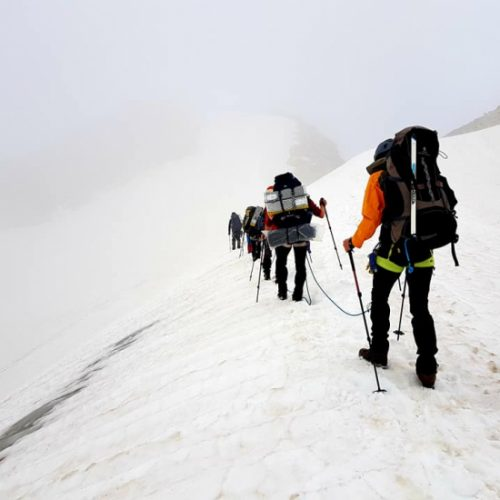 Mt kazbek climbing