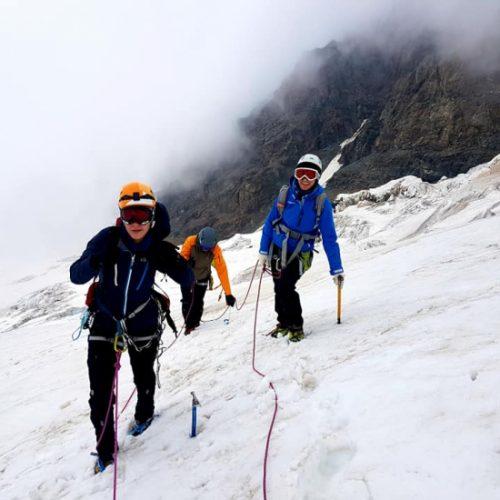 Tetnuldi climbing