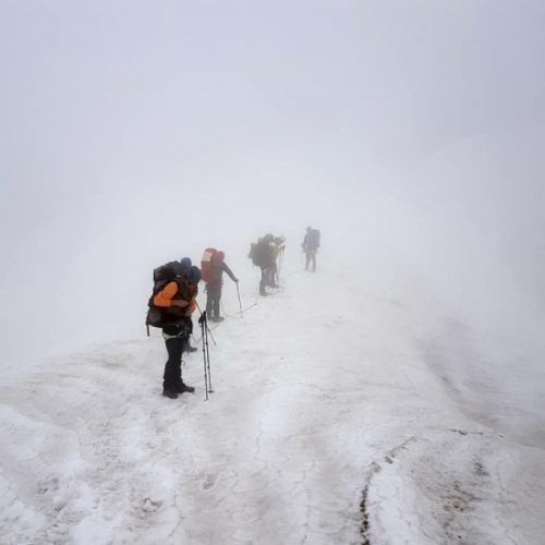 Mount Kazbek climbing
