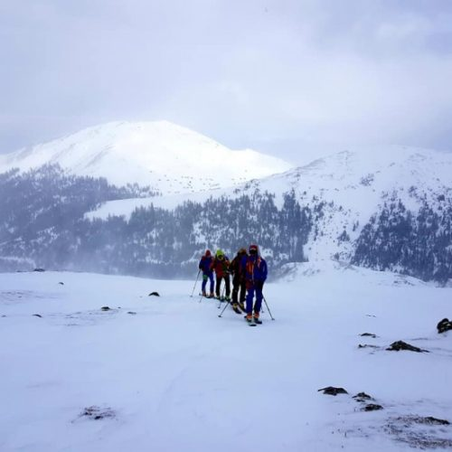 Ski touring Ushguli