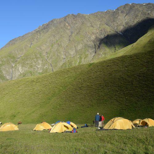 Camping place in Tusheti