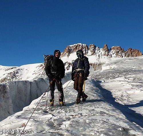 Kazbek gergeti glacier
