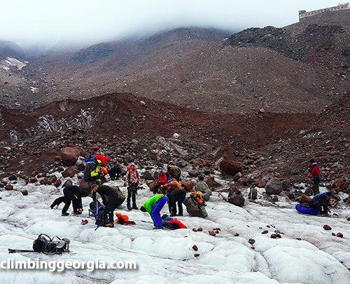 Mount Kazbek climb