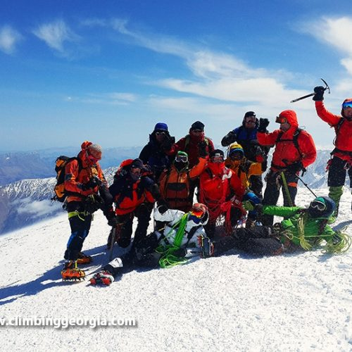 Mount Kazbek top