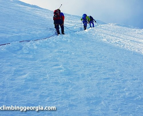 Kazbek climbing group