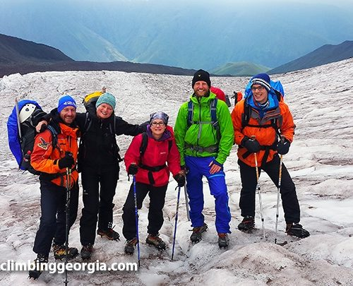 Kazbek climbing expedition