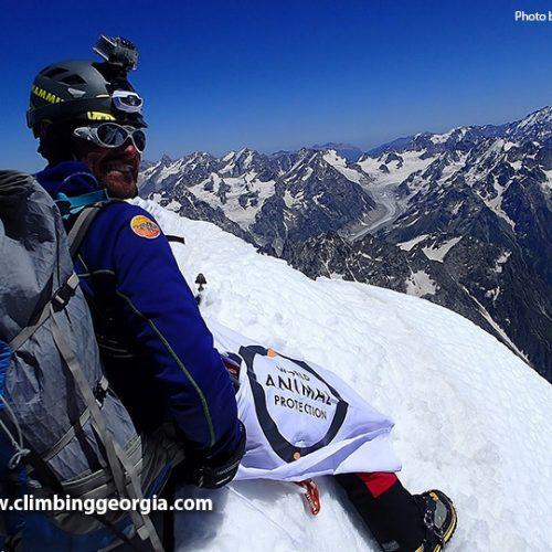 Mount Ushba climb