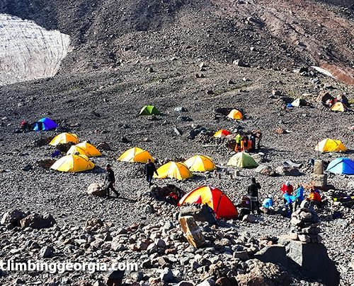 Mount kazbek base camp