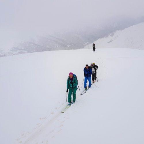 Ski touring Qoruldi. Svaneti