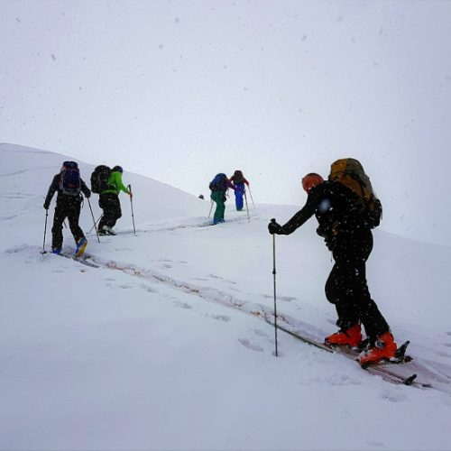Ski touring group in Svaneti