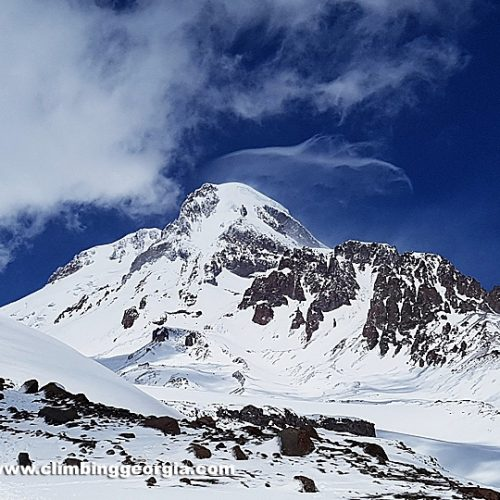 Kazbek from Arsha pass