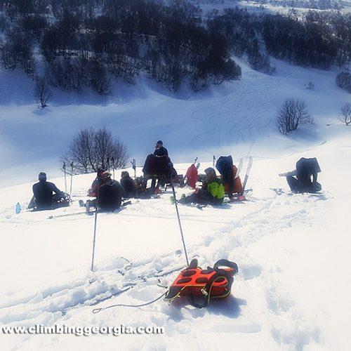 Ski touring Gudauri Georgia