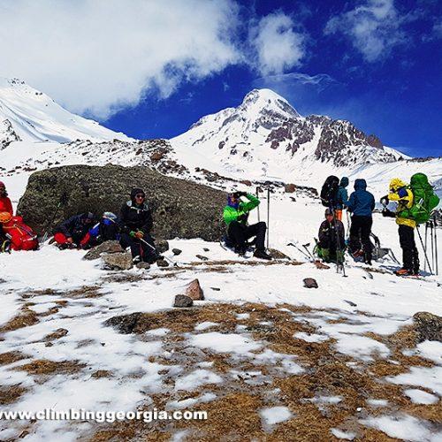 Kazbek climbing guide