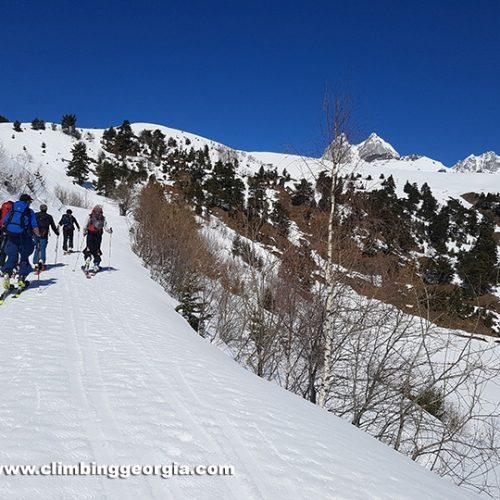 Ski touring Guli Svaneti Georgia