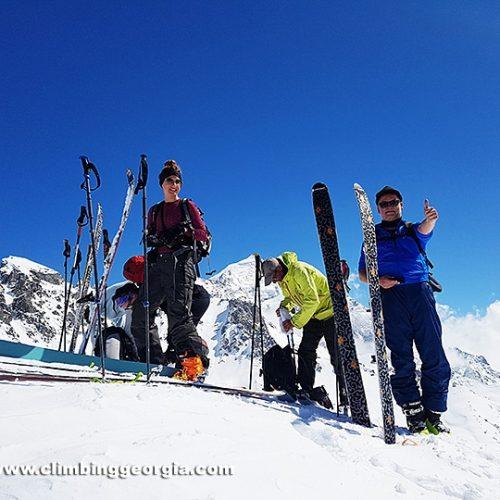 Ski touring Svaneti Georgia