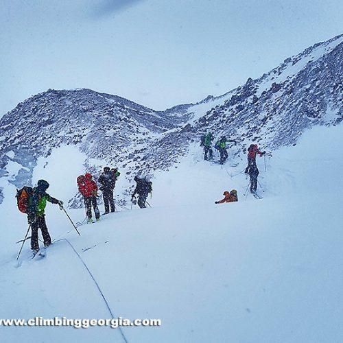 Kazbek climbing