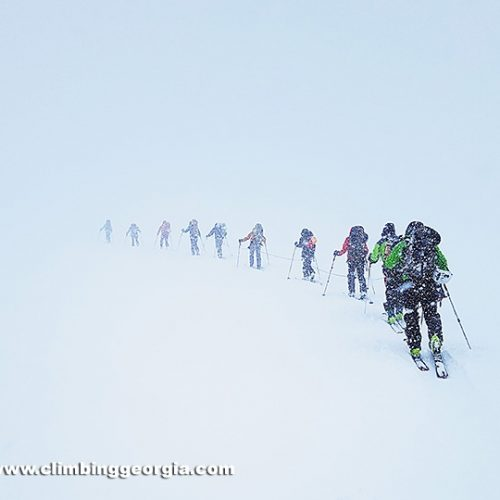 Kabek ski touring guided group