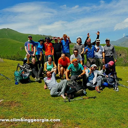 Kazbek guides with group
