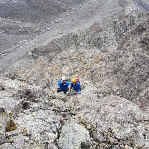 Chaukhi climbing