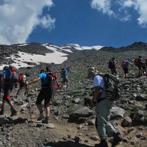 Ascend to the high camp