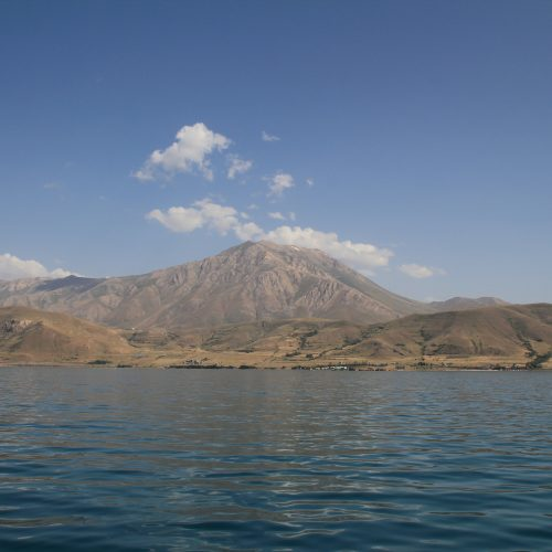 Mt Artos from the lake