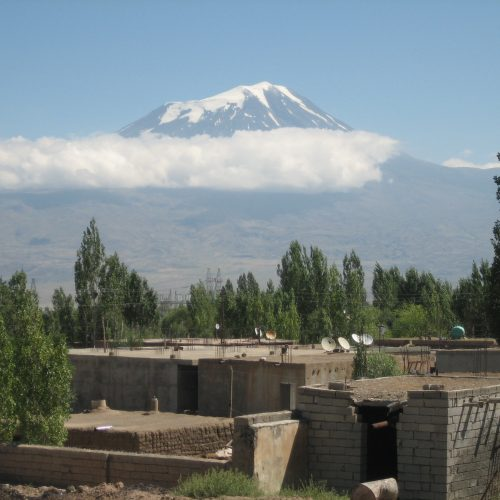 View from the town to Ararat