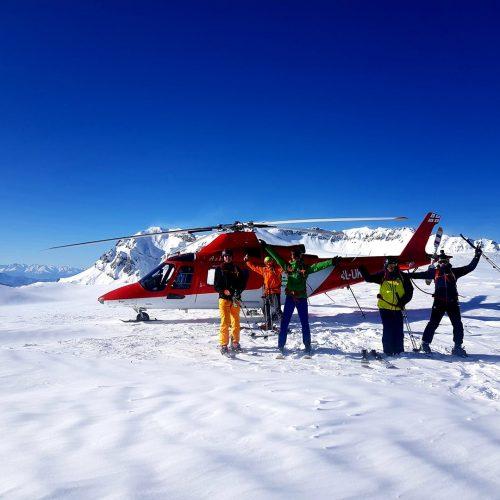 Heli skiing in Bakhmaro, Georgia